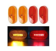 led clearance lights motorhomes 2 red 2 amber 6 led rectangle clearance 12v side marker lights