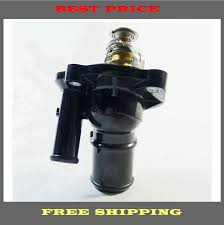 engine coolant thermostat water outlet assembly fits ford mercury