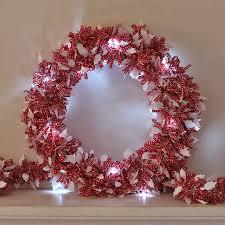 diy wonderful original led tinsel and wreath
