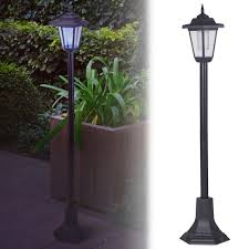 solar powered garden lights lantern l black led pathway driveway