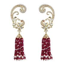 kanphool earrings bejewelled peacocks the onset of the monsoon season in india