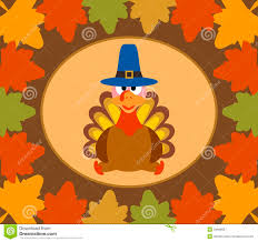 fondo día de autumn thanksgiving con el pavo stock de