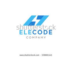 lightning logo design element energy thunder stock vector