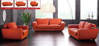 Modern Sofa And Loveseat Orange Leather Sofa And Loveseat Ezhandui