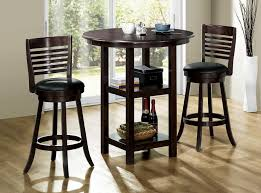 3 piece dining room set black counter height wayne home 7 al