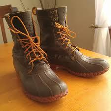 womens ll bean boots size 11 l l bean l l bean duck boots bison brick mens 10 5 from