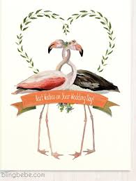 best wishes for wedding card best wishes on your wedding day flamingo wedding card by blingbebe
