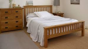 Oak Bed Beds 100 Solid Hardwood Oak Furniture Land