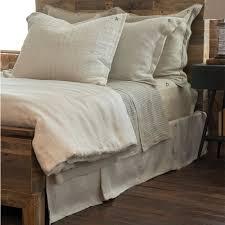 stripe linen duvet cover walnut brown