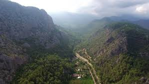 Pennsylvania travel videos images Aerial view of mountain valley portugal madeira village landscape jpg