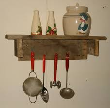 primitive wall shelf rustic home decor wood shelf 19 99 via
