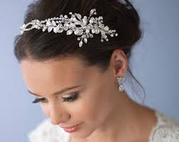 bridal headband bridal headbands etsy