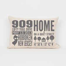 New Home Gift by Personalized Housewarming Pillow Custom Housewarming Gift