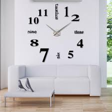 Large Mirrored Wall Clock Winsome Home Decor Wall Clock 42 Large Mirrored Wall Clocks Home