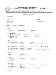 contoh format askep maternitas format askep neonatus