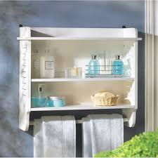 Bathroom Wall Shelves Nantucket White Wood Bathroom Wall Shelf Ebay