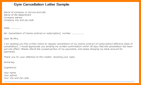 10 gym membership cancellation letter template joblettered