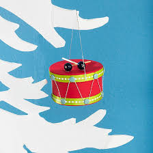 how to make a drum ornament