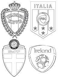 coloring page uefa euro 2016 group e republic of ireland