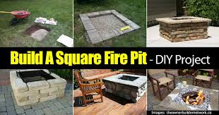 How To Build A Backyard Firepit by Build A Raised Square Brick Fire Pit
