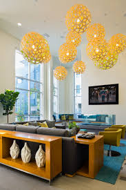 Yellow Pendant Lights David Trubridge Coral Pendant Lights At The Aire Apartments In San