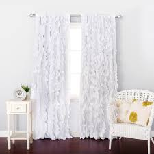 White Ruffle Curtains Ruffled Curtains Country Priscilla Kitchen Ivory Ruffle Shower