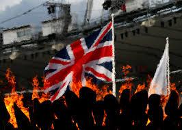 London Flag A Union Flag Is Seen Through The Heat Haze Of The London 2012
