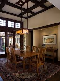 Lighting For Beamed Ceilings Rectangular Chandelier Lighting Dining Room Craftsman With Asian
