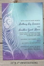 peacock wedding invitations blue and purple wedding invitations bridal wedding
