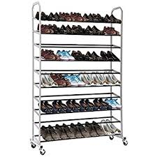Shoe Rack by Rolling Shoe Rack Maidmax 10 Tier Free Standing Metal