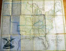 Eastern United States Road Map by 1820 U0027s Pennsylvania Maps