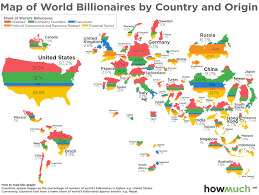 Map Of The World Showing Countries by Map Of World U0027s Billionaires And How They Made Their Money