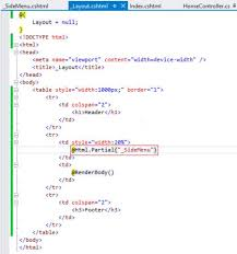 layout view helper partial view sle in mvc day 35