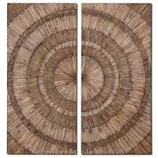 wood rings wall scenario home