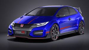 honda civic type r concept 2015 3d model 129 obj max lwo