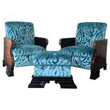 Fabric Armchairs And Ottomans Gilbert Rohde Art Deco Wakefield Reclining Chair And Ottoman