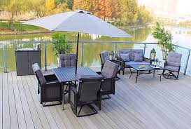 Outdoor Patio Dining Sets With Umbrella - pebble lane living