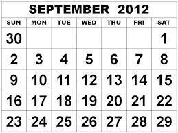 images of september map 2012 calendar sc
