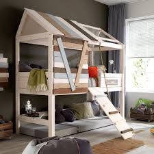 awesome bunk bed you could probably diy this with a handy spouse