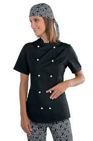 vetement cuisine veste de cuisine et blanche pour femme tissu léger