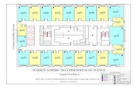 typical house layout warren towers floor plans housing boston university