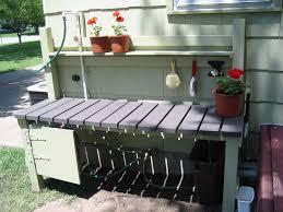 Garden Potting Bench Ideas Brilliant Outdoor Garden Furniture Decoration Integrates
