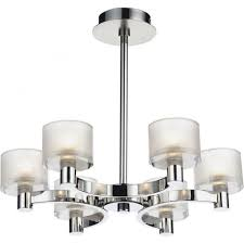 Chrome Ceiling Lights Uk Dar Lighting Eton 6 Light Chandelier Fitting In Satin And Polished