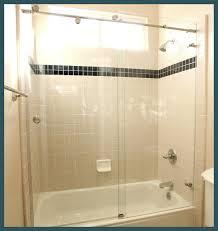 atlanta exposed roller sliding shower doors drexler