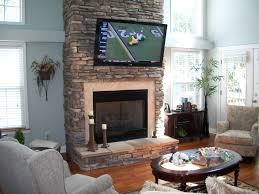 Stone Home Decor View Mounting Tv On Stone Fireplace Decoration Idea Luxury Top On