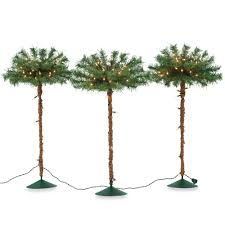 decorating pre lit pahway palm tree lighted branches for home