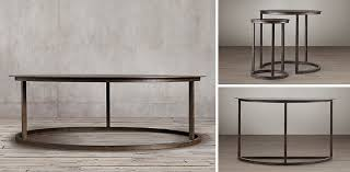 Restoration Hardware Coffee Table Mercer Collection Blackened Rust Rh