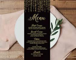 Diy Wedding Menu Cards Food Menu Jadeforestdesign