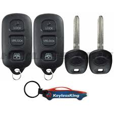 toyota 4runner key fob replacement 2 replacement remote key fob set for 1999 2000 2001 2002 toyota