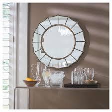 Round Decorative Wall Mirror Threshold™ Tar